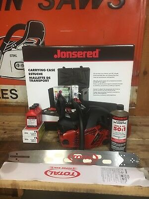 "Jonsered CS 2252 Chainsaw with 18"" Bar and Chain-2 Year Warranty! See details"