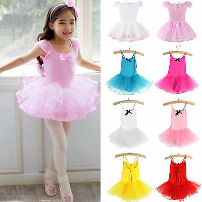 Girl Kid Tutu Ballet Leotard Dance Dresses Ballerina Unitard Dancewear Costume