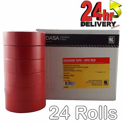 Indasa Low Bake Assured Hi-Temp Red Masking Tape 36mm x 50m 24 Rolls