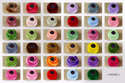 DMC Fil a Dentelles Cotton Thread  6 Ply - per 5 gram ball (19-B5200-M)