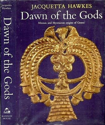 Rare 1968 Dawn Of The Gods Minoan Mycenaean Origins Greece Illustrated Dj