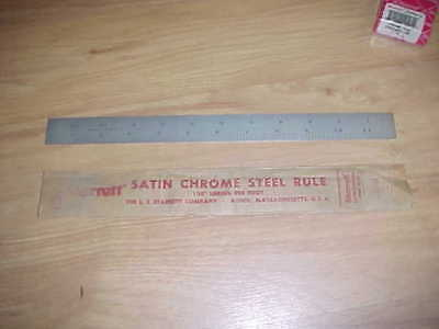 "NOS Starrett No C100C 12"" Shrink Rule Aircraft 50ths 10ths Tempered"