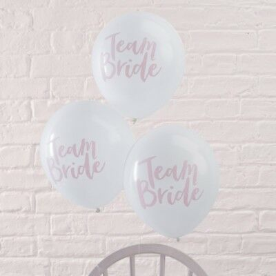 Team Bride to Be Hen Party Supplies - Sashes Balloons Bunting Rose Gold & Pink