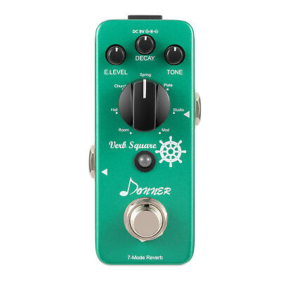 Donner Digital Reverb Guitar Effect Pedal Verb Square 7 Modes Top Quality