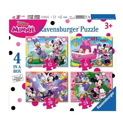 Minnie Maus - Puzzle Box 4 in 1 Mouse - 12, 16, 20 und 24 Teile