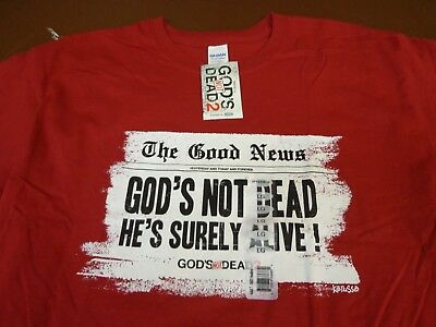 God's NOT Dead 2  He's Surely Alive Movie T Shirt Christian Religious   Large