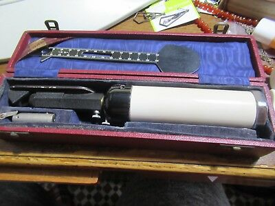 Vintage Keeler Ophthalmoscope, Boxed. Prop / display.