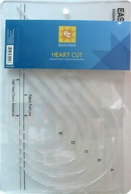 EZ Easy Heart Acrylic Quilting Template (8823745A)