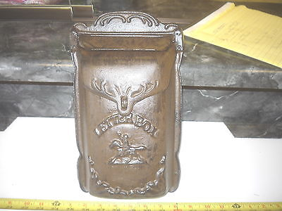 New Cast Iron  Pony Express Letter Mail Box  Rustic Cowboy Cabin Farm Ranch