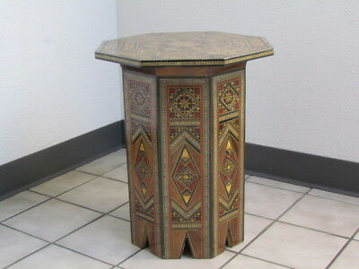 Nice Syrian Mosaic Hand-Made Side/end Table Moroccan/mediterranean