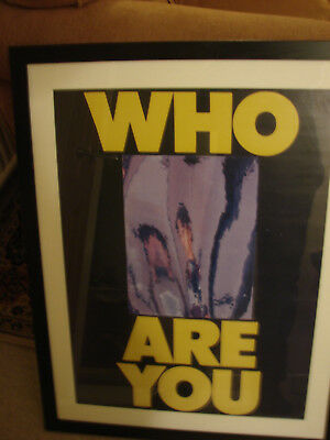 The Who  Who Are You  Orig 1978 Official promo Poster stamped Framed