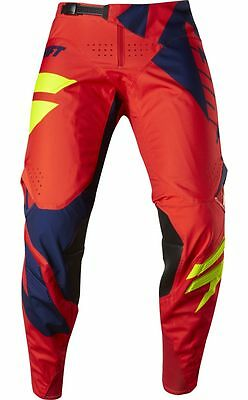 Shift Racing 2017 Mens 3lack Mainline Pants Navy/Red Motocross Offroad 18765