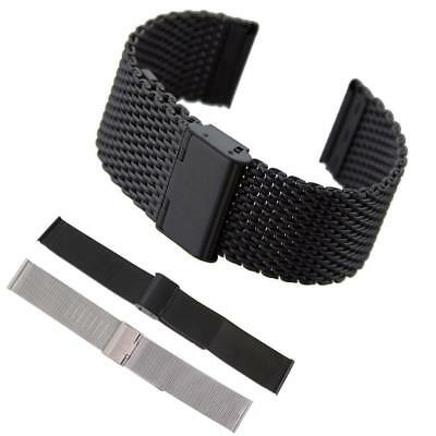 18/20/22mm Mesh Stainless Steel Milanese Watch Band Link Bracelet Wrist Strap