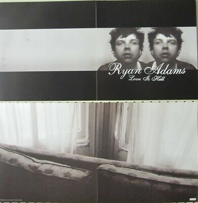 Ryan Adams 2004 Love Is Hell Lost Hwy Records 2 sided promo poster New Old Stock