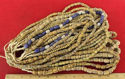 Bundle of (20) Strands of Sandcast Trade Beads #11....Buy It Now