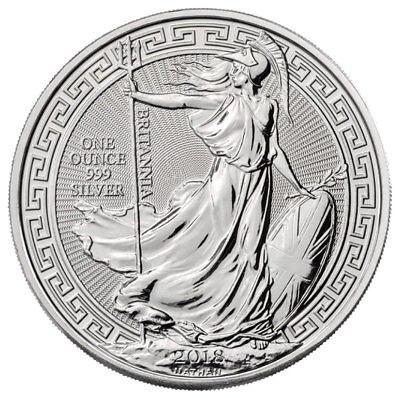 2018 Great Britain 1 oz Silver Britannia Oriental Border £2 Coin GEM BU SKU52306