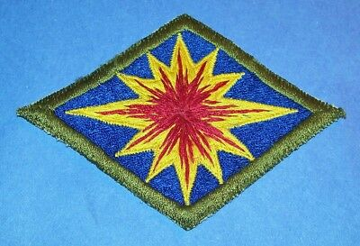 ORIGINAL POST WW2 JAPANESE MADE SILK 40th INFANTRY DIVISION BALL OF FIRE PATCH!