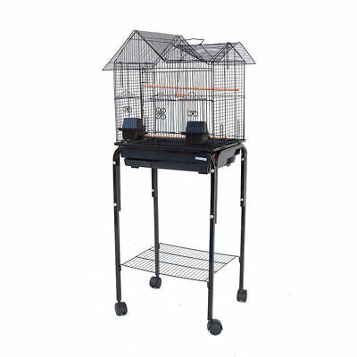 House Top Bird Cage with Stand for Canary Cockatiel Parakeet Lovebird Finch