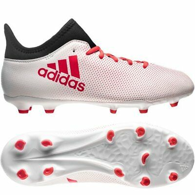 daa325992b5c adidas X 17.3 FG 2017 Soccer Shoes Cleats White / Red / Black Kids - Youth