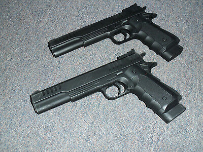1911 Replica Gun 2pc Lot Movie Prop Costume for Walking Dead Resident Evil