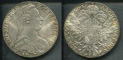 ÖSTERREICH 1780 - 1 Maria Theresia Taler in Silber, stgl. - Neuausgabe
