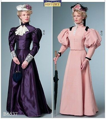 B6537 BUTTERICK 6537 Sewing Pattern Historical Costume Victorian ...
