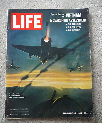 Life Magazine - February 25 1966 - Jet Fighters  Vietnam A Searching Assessment