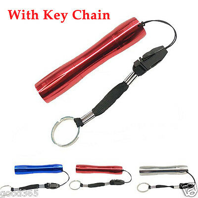 Portable Mini LED Flashlight Small Pocket Torch Lamp Medical Light With Keychain
