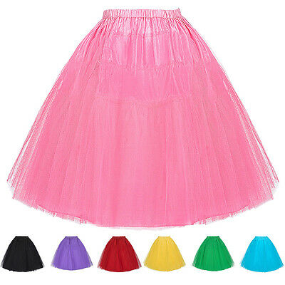 Clearance Retro Underskirt 50s Swing Vintage Petticoat Net Short Mini Skirt Slip