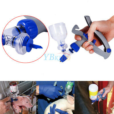 5ml Automatic Self Refill Injector Syringe Livestock Cattle Chicken Sheep Hog hh