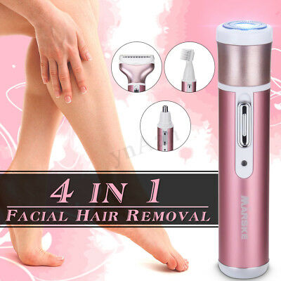 Lady Face Facial Eyebrow Nose Trimmer Hair Removal Epilator Electric Shaver Gift