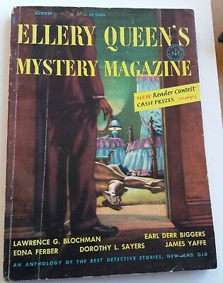 Ellery Queen's Mystery Magazine {With Black Mask} August 1953 - Dorothy Sayers