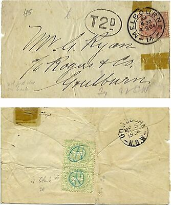 1904 Cover with Victoria 1d red with Tax 2d Postage Due