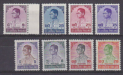 SG 749-55A 1973 King Bhumipol SET OF 8 Siriwong 735-42 MUH Ref