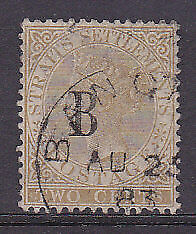 SG 14 British P.O. in Siam 2c brown Used.
