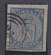 SG 1 4s blue with 4 large margins. Used