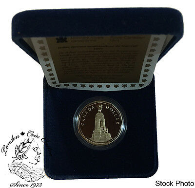 Canada 1994 $1 Loonie War Memorial Proof Coin with Box & COA