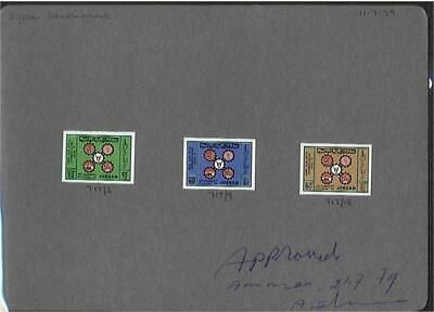 SG 1253-5 Five Year Plan Set of 3 Die Proofs on card Unique