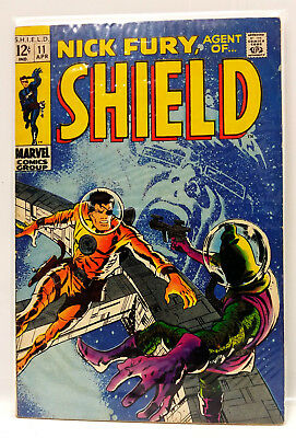 #11 NICK FURY AGENT of SHIELD 1960s Marvel Silver Age Comic Book- Fine (NF-11)