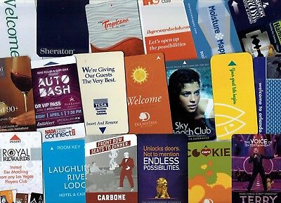 HOTEL Room KEY Cards - LOT of 24 Different - some Casino, Las Vegas ~ I Combine