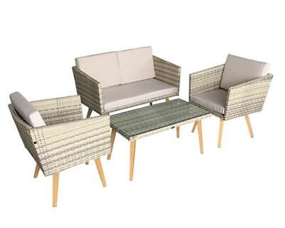 poly rattan gartenm bel gartenset sitzgarnitur lounge sitzgruppe gartengarnitur eur 479 90. Black Bedroom Furniture Sets. Home Design Ideas