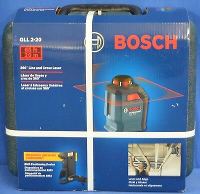 BOSCH GLL 2-20 360 Degree 65-ft Self Leveling Laser Level w/ Positioning Device