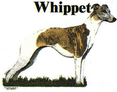 Whippet  Dog  t-shirt    Vintage NOS   Small, Medium, Large or XL