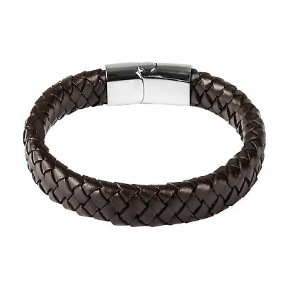 Fashion Mens Boys Jewelry Concise Leather Bracelet Gifts Friends For Male