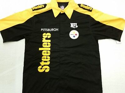 premium selection bb78a 03540 NFL PITTSBURGH STEELERS Nascar - Bowling Style Embroidered Shirt (Large) New