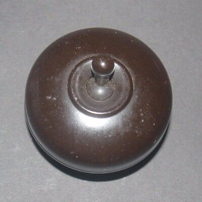 Vintage Crabtree Bakelite Single Pole Light Switch New Old Stock