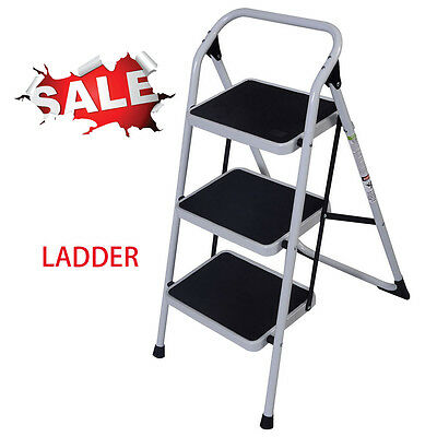 Non-slip Folding 3 Iron Step Ladder Hand Grip Iron Frame Step Tool Handrails