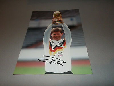 Stefan Reuter DFB Weltmeister  signiert signed Autogramm 20x28 Foto in person