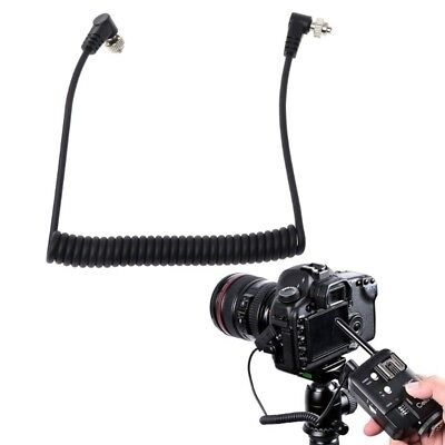 Male to Male PC Sync Cord/Cable—Screw Lock for Camera&Flash&Trigger&Light Meter