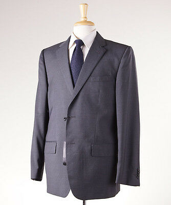 NWT $1295 VALENTINO ROMA Charcoal Gray Fine-Stripe Wool Suit 44 R Dual Vents